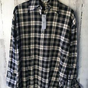 Helmut Lang Safety Pin Shirt Plaid (missing pin)